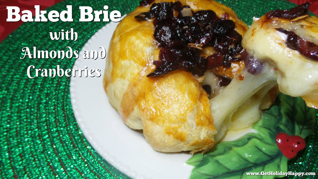 Baked Brie with Almonds and Cranberries